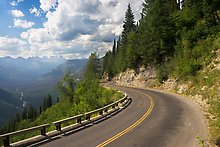 Going to the Sun road, Glacier National Park.  ( )
