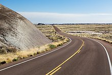 Road near the Flattops. Petrified Forest National Park.  ( )