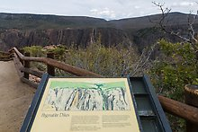 Black Canyon of the Gunnison National Park.  ( )