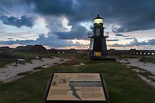 Harbor Light, and fort Jefferson. Dry Tortugas National Park.  ( )