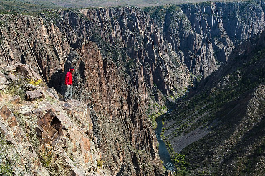 Pulpit rock overlook. Black Canyon of the Gunnison National Park.  ()