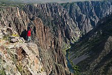 Pulpit rock overlook. Black Canyon of the Gunnison National Park.  ( )