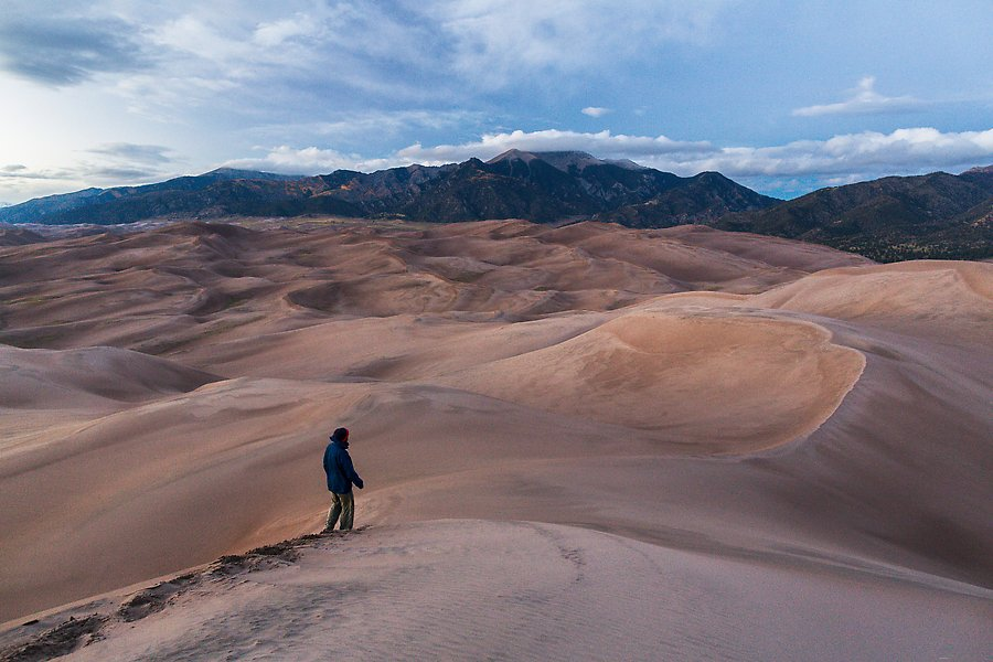 Dune field. Great Sand Dunes National Park.  ()