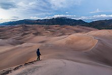 Dune field. Great Sand Dunes National Park.  ( )