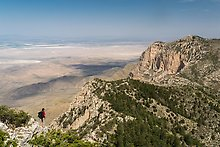 Guadalupe Peak. Guadalupe Mountains National Park.  ( )