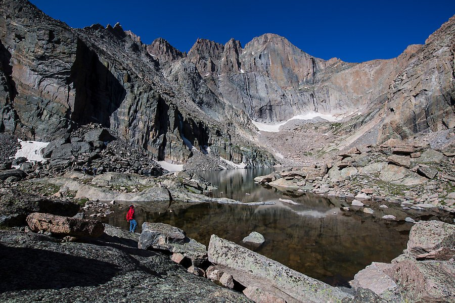 Chasm Lake and Longs Peak. Rocky Mountain National Park.  ()