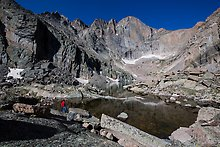 Chasm Lake and Longs Peak. Rocky Mountain National Park.  ( )