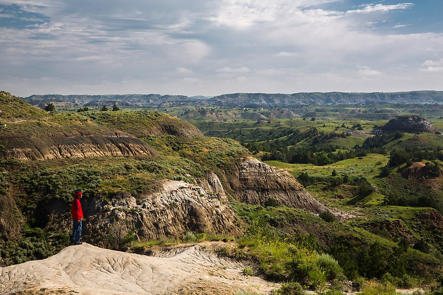 North Dakota Badlands Overlook. Theodore Roosevelt National Park.  ()