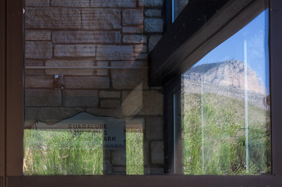Mountain, visitor center. Guadalupe Mountains National Park.  ()
