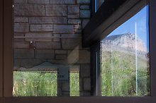 Mountain, visitor center. Guadalupe Mountains National Park.  ( )