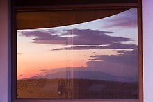 Mesa at sunset, Far View visitor center. Mesa Verde National Park.  ( )